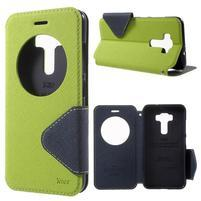 Diary pouzdro s okýnkem na mobil Asus Zenfone 3 ZE520KL - zelené