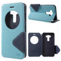 Diary pouzdro s okýnkem na mobil Asus Zenfone 3 ZE520KL - světlemodré