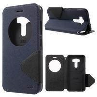 Diary pouzdro s okýnkem na mobil Asus Zenfone 3 ZE520KL - tmavěmodré
