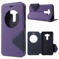 Diary pouzdro s okýnkem na mobil Asus Zenfone 3 ZE520KL - fialové
