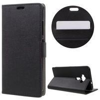 Leathy peněženkové pouzdro na Asus Zenfone 3 ZE520KL - černé