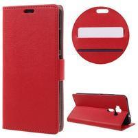 Leathy peněženkové pouzdro na Asus Zenfone 3 ZE520KL - červené