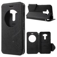 Diary pouzdro s okýnkem na mobil Asus Zenfone 3 ZE520KL - černé