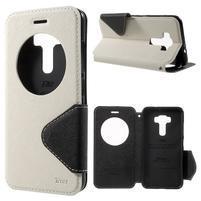 Diary pouzdro s okýnkem na mobil Asus Zenfone 3 ZE520KL - bílé