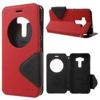 Diary pouzdro s okýnkem na mobil Asus Zenfone 3 ZE520KL - červené