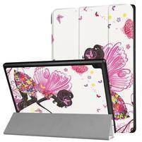 Pattern obrázkové polohovatelné pouzdro pro tablet Lenovo Tab 4 10 Plus - dívka s křídly