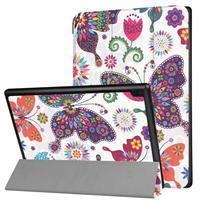 Pattern obrázkové polohovatelné pouzdro pro tablet Lenovo Tab 4 10 Plus - barevní motýli