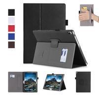 Texture PU kožené pouzdro s držákem na ruku na tablet Lenovo Tab 4 10 Plus - černé