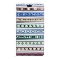 Pattern PU kožené peněženkové pouzdro na mobil Motorola One Vision / P40 - etnický styl