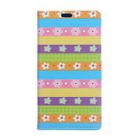 Pattern PU kožené peněženkové pouzdro na mobil Motorola One Vision / P40 - barevné květy