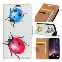 Wallet PU kožené peněženkové pouzdro na mobil Motorola One Vision / P40 - berušky