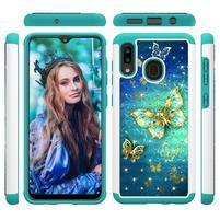 Patterned odolný obal na mobil Samsung Galaxy A20 / Galaxy A30 - motýl