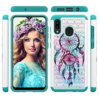 Patterned odolný obal na mobil Samsung Galaxy A20 / Galaxy A30 - lapač snů
