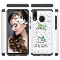 Patterned odolný obal na mobil Samsung Galaxy A20 / Galaxy A30 - studený