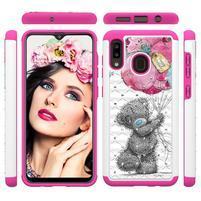 Patterned odolný obal na mobil Samsung Galaxy A20 / Galaxy A30 - medvídek