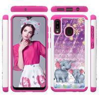 Patterned odolný obal na mobil Samsung Galaxy A20 / Galaxy A30 - slon