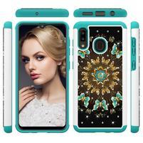 Patterned odolný obal na mobil Samsung Galaxy A20 / Galaxy A30 - květy a motýli