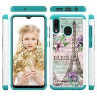 Patterned odolný obal na mobil Samsung Galaxy A20 / Galaxy A30 - Eiffelova věž