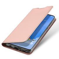 DUX luxusní PU kožené pouzdro na Samsung Galaxy A70 - růžovozlaté