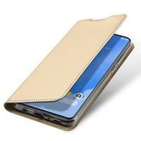 DUX luxusní PU kožené pouzdro na Samsung Galaxy A70 - zlaté