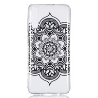 Patty gelový obal na Samsung Galaxy A70 - černá květina