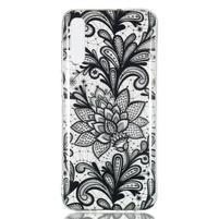 Patty gelový obal na Samsung Galaxy A70 - květina krajka