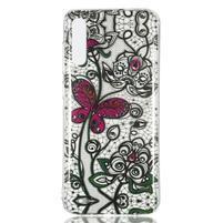 Patty gelový obal na Samsung Galaxy A70 - krajka a motýl