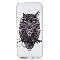Patty gelový obal na Samsung Galaxy A70 - černá sova