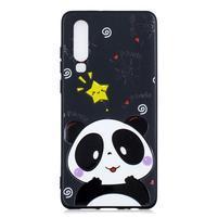 Patte silikonový kryt pro Huawei P30 - panda