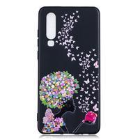 Patte silikonový kryt pro Huawei P30 - květiny a motýli