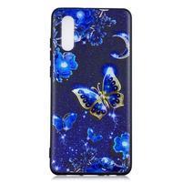Patte silikonový kryt pro Huawei P30 - modří motýli