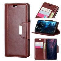 Wallet PU kožené peněženkové pouzdro na Huawei P30 - hnědé