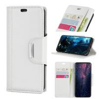 Wallet PU kožené peněženkové pouzdro na Huawei P30 - bílé