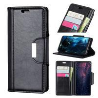 Wallet PU kožené peněženkové pouzdro na Huawei P30 - černé