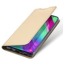 DUX PU kožené pouzdro na Samsung Galaxy A40 - zlaté