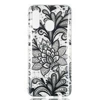 Printy silikonový obal na Samsung Galaxy A40 - květina krajka