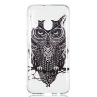 Printy silikonový obal na Samsung Galaxy A40 - černá sova