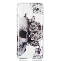 Printy silikonový obal na Samsung Galaxy A40 - lebka