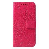 Mandala PU kožené peněženkové pouzdro pro Samsung Galaxy S10 - rose