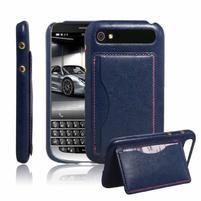 PU kožený kryt se stojánkem na BlackBerry Classic - modré