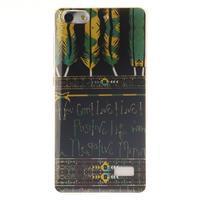 Gelový obal na mobil Honor 4C - peříčka