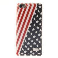 Gelový obal na mobil Honor 4C - americká vlajka