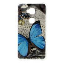 Drop gelový obal na Huawei Honor 5X - modrý motýl