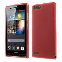 Matné gelové pouzdro na Huawei Ascend G6 - červené