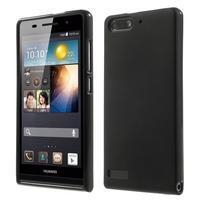 Matné gelové pouzdro na Huawei Ascend G6 - černé