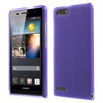 Matné gelové pouzdro na Huawei Ascend G6 - fialové