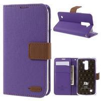 Style PU kožené pouzdro pro LG K10 - fialové