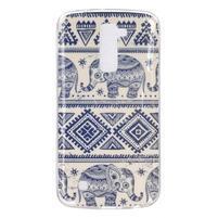 Fony gelový obal na mobil LG K10 - sloni