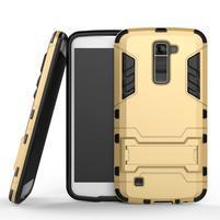 Odolný kryt na mobil LG K10 - zlatý