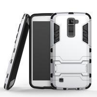 Odolný kryt na mobil LG K10 - stříbrný